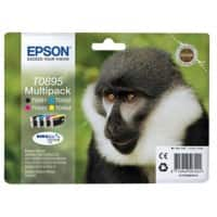 Epson T0895 Original Ink Cartridge C13T08954010 Black & 3 Colours Pack of 4