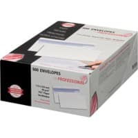 PROFESSIONAL DL Envelopes 225 x 112 mm Flap Plain 90gsm White Pack of 500
