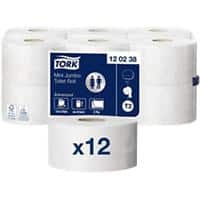 Tork Toilet Rolls T2 Advanced Mini Jumbo 2 Ply 12 Rolls of 850 Sheets