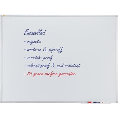 Franken Wall Mountable Magnetic Whiteboard Enamel Valueline 90 x 60 cm