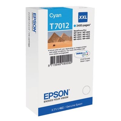 Epson T7012 Original Ink Cartridge C13T70124010 Cyan