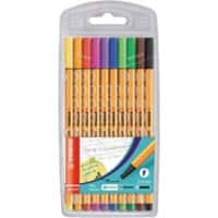 Stabilo Point 88 Fineliner Fine 0.4 mm Assorted Pack of 10