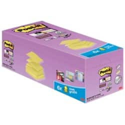 Post-it Super Sticky Z-Notes Canary Yellow 7.6 x 7.6 cm 70gsm 20 pieces of 90 sheets