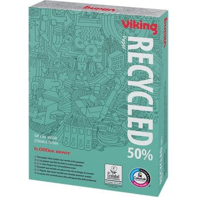 Viking 50% Recycled Printer Paper A4 80 gsm White 161 CIE 500 Sheets