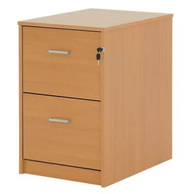 Filing Cabinet Two Drawer Beech 476 x 598 x 720 mm