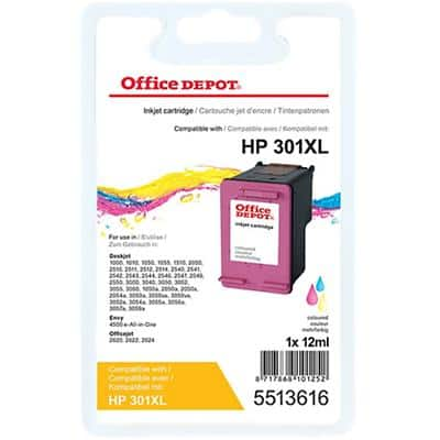 Office Depot Compatible HP 301XL Ink Cartridge CH564EE 3 Colours