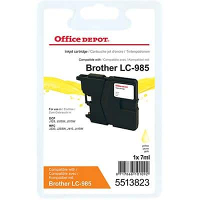 Office Depot Compatible Brother LC985Y Ink Cartridge Yellow