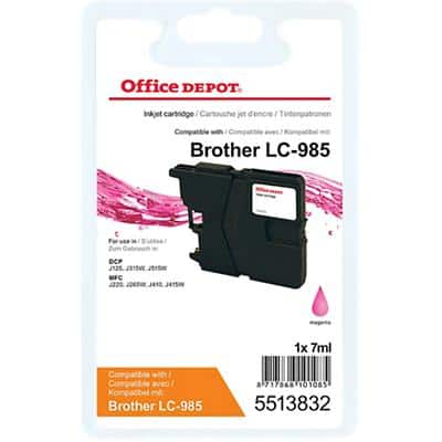 Office Depot Compatible Brother LC985M Ink Cartridge Magenta