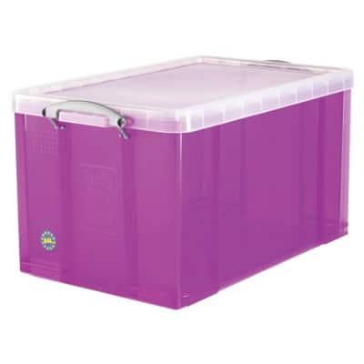 Really Useful Boxes Storage Box 84 L Purple Plastic 44 x 71 x 38 cm