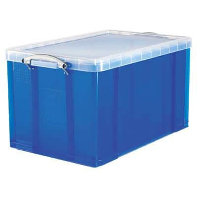 Really Useful Boxes Storage Box 84 L Blue Plastic 44 x 71 x 38 cm