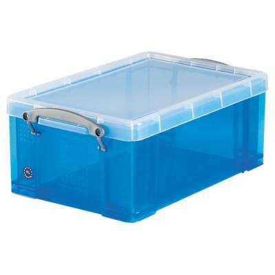 Really Useful Box Plastic Storage 9 Litre Blue 255 x 395 x 155 mm