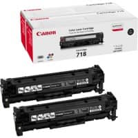 Canon 718BK2 Original Toner Cartridge Black Pack of 2