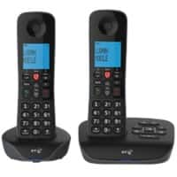 BT Essential Cordless Telephone 90658 Black Twin Handset