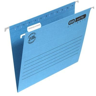 ELBA Vertical Suspension File Verticflex Ultimate A4 V Base 240gsm Blue Pack of 25