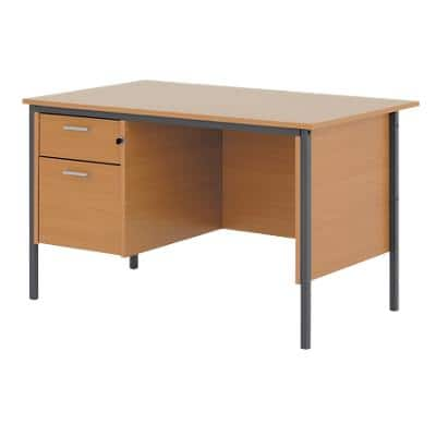 Straight Desk Classic Beech 1,200 x 730 x 725 mm