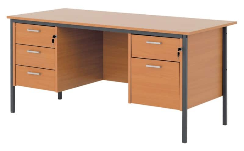 Classic 1500 Mm Dual Pedestal Executive Desk In Beech Effect