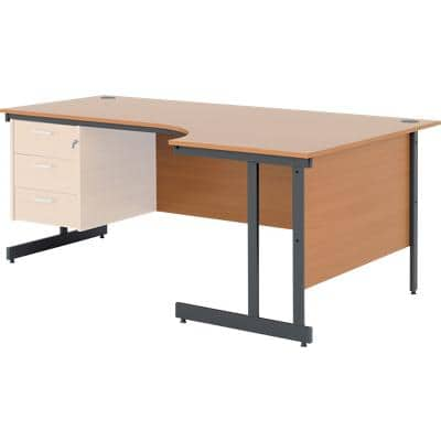 Right Hand Corner Desk Classic Plus Beech 1,800 x 800 x 725 mm