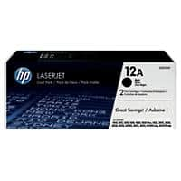 HP 12A Original Toner Cartridge Q2612AD Black 2 Pieces