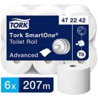 Tork Toilet Rolls T8 SmartOne Advanced Midi Jumbo 2 Ply 6 Rolls of 1150 Sheets