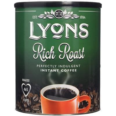 Lyons Rich Roast Instant Ground Coffee Tin Granules 750g