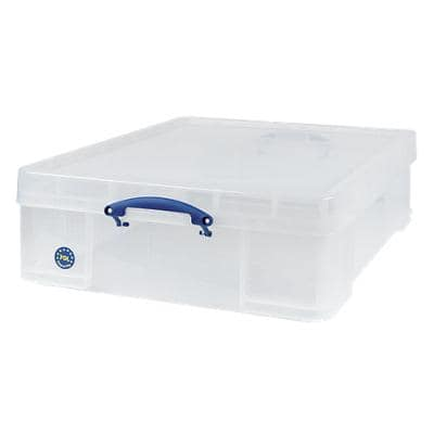 Really Useful Boxes Storage Box 70 L Transparent Plastic 62 x 81 x 22.5 cm