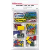 Office Depot Multipack Clips and Pins Assorted Colour Pack of 212