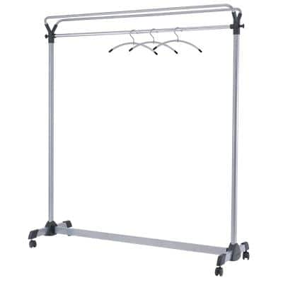 Alba Mobile Garment Rack PMGROUP3 1500 x 500 x 1700mm Silver Grey & Black
