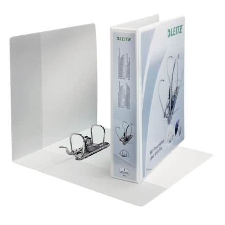 Leitz 180° Lever Arch File A4+ 2 ring 50 mm White