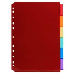 Exacompta Dividers 3906E A4 Assorted 6 tabs plastic blank