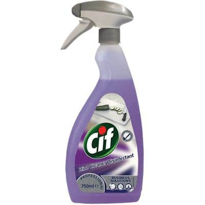 Cif Kitchen Cleaner 2 in 1 Kill Germs, Disinfectant, Fragrance-free 750 ml