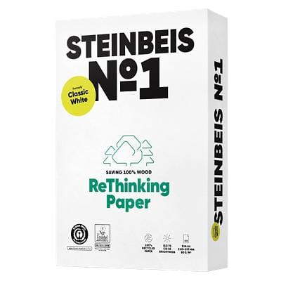 Steinbeis Classic Printer Paper A4 80gsm White 500 Sheets