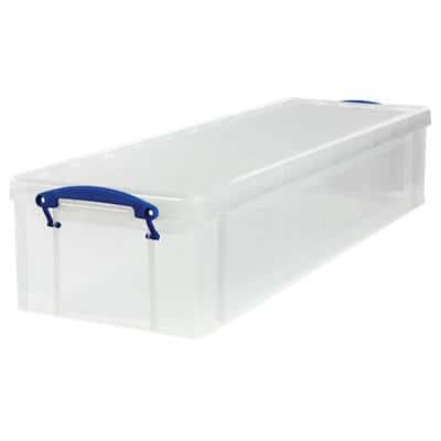 Really Useful Boxes Storage Box 22 L Transparent Plastic 25.5 x 82 x 15.5 cm