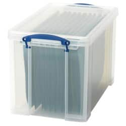 Really Useful Boxes Storage Box 24 L Clear Plastic 29 x 27 x 46.5 cm
