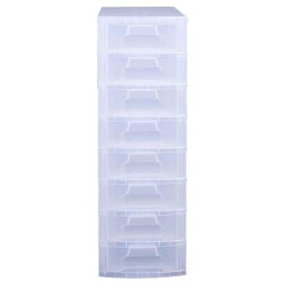 Really Useful Boxes Storage Unit Transparent Plastic 30 x 42 x 92.5 cm