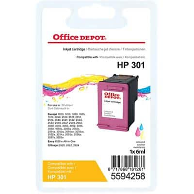 Office Depot Compatible HP 301 Ink Cartridge CH562EE Colour