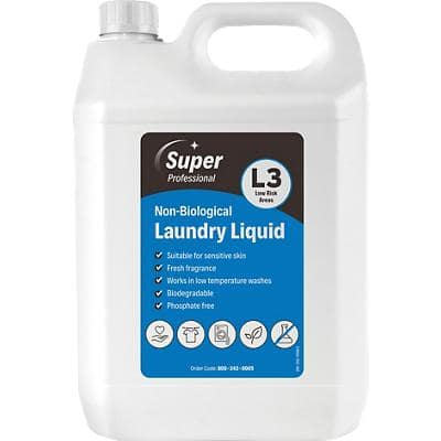 Super Professional Products L3 Laundry Detergent Non-Biological 5L