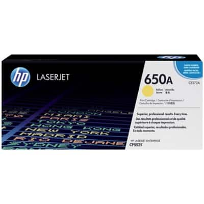 HP 650A Original Toner Cartridge CE272A Yellow