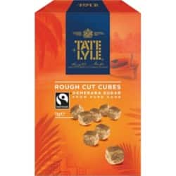 Tate and Lyle Fairtrade Demerara rough cut sugar cubes 1 kg