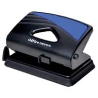Office Depot 2 Hole Punch 91W0 Black, Blue 20 Sheets