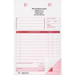 Ease-Apart Personalised Trade Sale Register Sets Inc Vat Box 2 Part 216 x 140 mm 500 Sets Per Pack