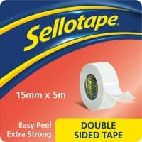 Sellotape Double Sided Tape 15mm x 5m White