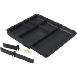 Exacompta Drawer Organiser plastic Black 3.6 x 29.8 x 24.6 cm