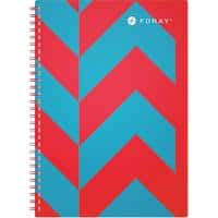 Foray Extreme A4 Wirebound Turquoise Poly Cover Notebook Ruled 200 Pages