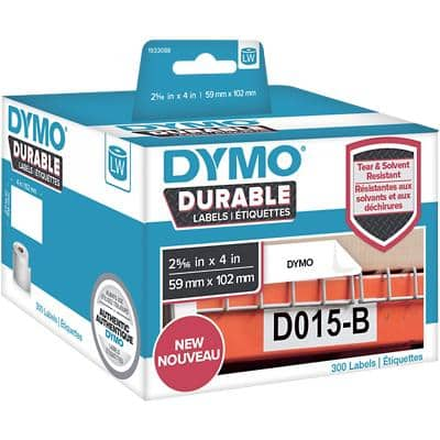 DYMO LW Durable Multipurpose Labels 1933088 Black on White Self Adhesive 59 mm x 102 mm 300 Labels