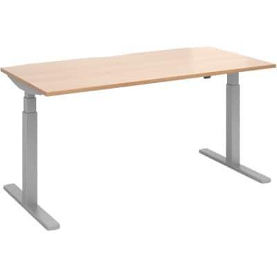 Dams International Sit Stand Desk Elev8 Touch Beech 675 x 1,600 x 800 mm