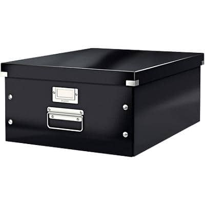 Leitz Click & Store WOW Storage Box A3 Laminated Cardboard Black 369 x 482 x 200 mm
