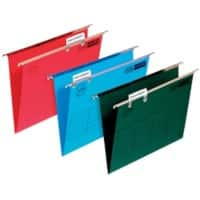 ELBA Vertical Suspension File Foolscap W Base 30 mm 240gsm Green Cardboard Pack of 50