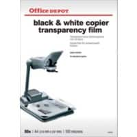 Office Depot A4 transparency film for black and white copiers - 100 micron - Pack of 50
