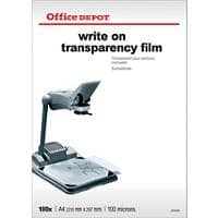 Office Depot Transparency Film A4 21 x 29.7 cm Transparent 100 Sheets