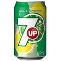 7UP Soft Drink Can Lemon & Lime 330ml Pack of 24